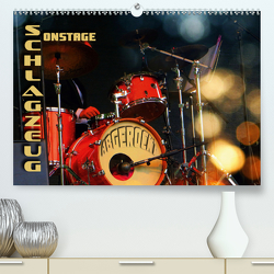 Schlagzeug onstage – abgerockt (Premium, hochwertiger DIN A2 Wandkalender 2020, Kunstdruck in Hochglanz) von Bleicher,  Renate