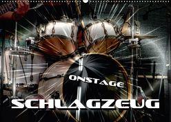 Schlagzeug onstage (Wandkalender 2018 DIN A2 quer) von Bleicher,  Renate
