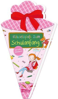 Schlau für die Schule: Rätselspaß zum Schulanfang mit Stickern (Schultüte für Mädchen) von Fuchs,  Caroline, Rothmund,  Sabine