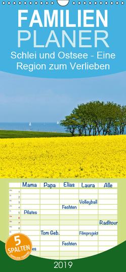 Schlei und Ostsee – Eine Region zum Verlieben – Familienplaner hoch (Wandkalender 2019 , 21 cm x 45 cm, hoch) von Hornecker,  Frank