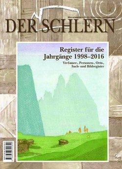 Der Schlern. Monatszeitschrift für Südtiroler Landeskunde von Griessmair,  Hans