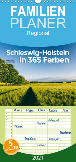 Schleswig-Holstein in 365 Farben – Familienplaner hoch (Wandkalender 2021 , 21 cm x 45 cm, hoch) von Jansen,  Thomas
