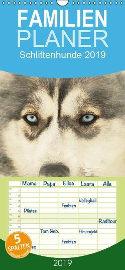 Schlittenhunde 2019 – Familienplaner hoch (Wandkalender 2019 , 21 cm x 45 cm, hoch) von Redecker,  Andrea