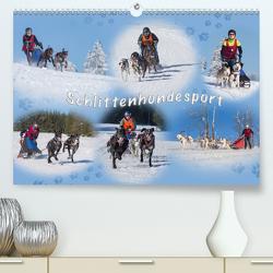 Schlittenhundesport (Premium, hochwertiger DIN A2 Wandkalender 2021, Kunstdruck in Hochglanz) von Eschrich -HeschFoto,  Heiko