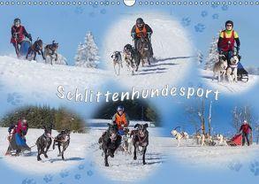 Schlittenhundesport (Wandkalender 2018 DIN A3 quer) von Eschrich -HeschFoto,  Heiko