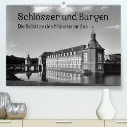 Schlösser und Burgen. Die Schätze des Münsterlandes (Premium, hochwertiger DIN A2 Wandkalender 2021, Kunstdruck in Hochglanz) von Michalzik,  Paul