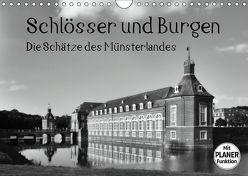 Schlösser und Burgen. Die Schätze des Münsterlandes (Wandkalender 2019 DIN A4 quer) von Michalzik,  Paul