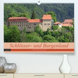 Schlösser- und Burgenland Thüringen (Premium, hochwertiger DIN A2 Wandkalender 2021, Kunstdruck in Hochglanz) von Flori0