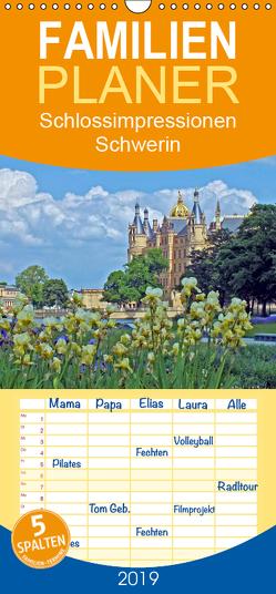 Schlossimpressionen Schwerin – Familienplaner hoch (Wandkalender 2019 , 21 cm x 45 cm, hoch) von Felix,  Holger