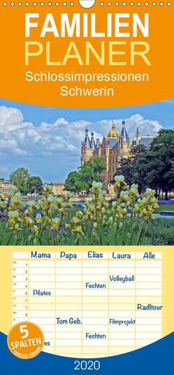 Schlossimpressionen Schwerin – Familienplaner hoch (Wandkalender 2020 , 21 cm x 45 cm, hoch) von Felix,  Holger