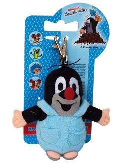 Schlüsselanhänger Der kleine Maulwurf mit blauer Hose Karabinerhaken