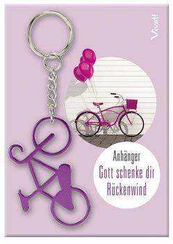 Schlüsselanhänger »Gott schenke dir Rückenwind« – violett