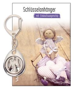 Schlüsselanhänger mit Einkaufswagenchip »Ein Engel an deiner Seite«