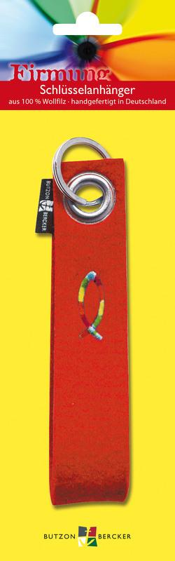 """Schlüsselband mit aufgesticktem """"Regenbogenfisch"""""""