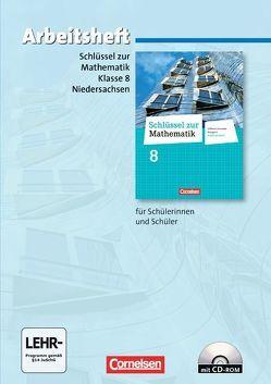 Schlüssel zur Mathematik – Differenzierende Ausgabe Niedersachsen / 8. Schuljahr – Arbeitsheft mit eingelegten Lösungen und CD-ROM von Koullen,  Reinhold, Meyer,  Christa