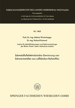 Schmelzflußelektrolytische Gewinnung von Schwermetallen aus sulfidischen Rohstoffen von Winterhager,  Helmut