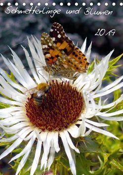 Schmetterlilnge und Blumen (Tischkalender 2019 DIN A5 hoch) von N.,  N.