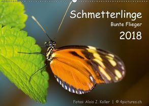 Schmetterlinge – Bunte Flieger 2018CH-Version (Wandkalender 2018 DIN A2 quer) von J. Koller 4Pictures.ch,  Alois