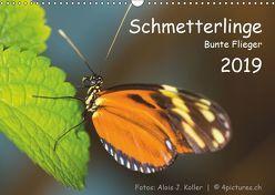 Schmetterlinge – Bunte Flieger 2019CH-Version (Wandkalender 2019 DIN A3 quer) von J. Koller 4Pictures.ch,  Alois
