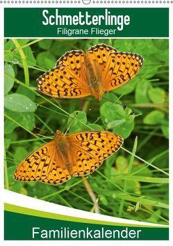 Schmetterlinge: Filigrane Flieger / Familienkalender (Wandkalender 2019 DIN A2 hoch) von Althaus,  Karl-Hermann