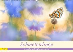 Schmetterlinge in zauberhaften Blumenwiesen (Wandkalender 2019 DIN A2 quer) von Petzl,  Perdita