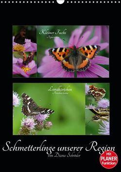 Schmetterlinge unserer Region (Wandkalender 2019 DIN A3 hoch) von Schröder,  Diana