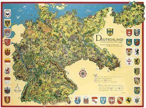 Schmuckkarte Deutschland in den Grenzen von 1937