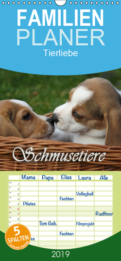 Schmusetiere – Familienplaner hoch (Wandkalender 2019 , 21 cm x 45 cm, hoch) von Lindert-Rottke,  Antje
