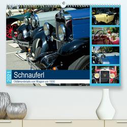 Schnauferl – Oldtimerdetails von Wagen vor 1930 (Premium, hochwertiger DIN A2 Wandkalender 2021, Kunstdruck in Hochglanz) von Marten,  Martina