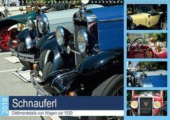 Schnauferl – Oldtimerdetails von Wagen vor 1930 (Wandkalender 2018 DIN A3 quer) von Marten,  Martina