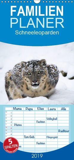Schneeleoparden – Familienplaner hoch (Wandkalender 2019 <strong>21 cm x 45 cm</strong> hoch) von Cloudtail