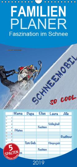Schneemobil – so cool – Familienplaner hoch (Wandkalender 2019 , 21 cm x 45 cm, hoch) von Roder,  Peter