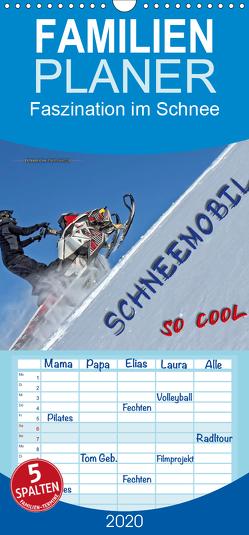 Schneemobil – so cool – Familienplaner hoch (Wandkalender 2020 , 21 cm x 45 cm, hoch) von Roder,  Peter