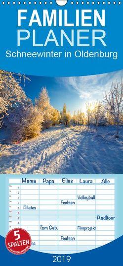 Schneewinter in Oldenburg – Familienplaner hoch (Wandkalender 2019 , 21 cm x 45 cm, hoch) von Renken,  Erwin