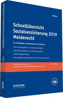Schnellübersicht Sozialversicherung 2019 Melderecht von Geiken,  Manfred