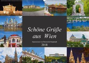 Schöne Grüße aus Wien (Wandkalender 2018 DIN A2 quer) von Kramer,  Christa