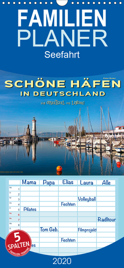 Schöne Häfen in Deutschland von Greetsiel bis Lindau – Familienplaner hoch (Wandkalender 2020 , 21 cm x 45 cm, hoch) von Roder,  Peter
