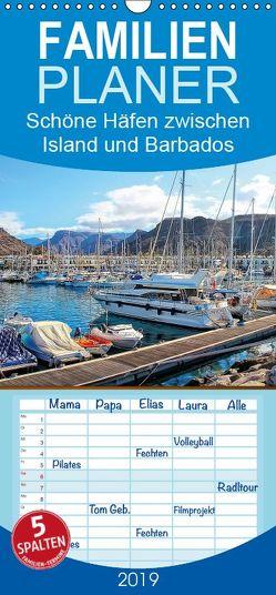 Schöne Häfen zwischen Island und Barbados – Familienplaner hoch (Wandkalender 2019 , 21 cm x 45 cm, hoch) von Roder,  Peter