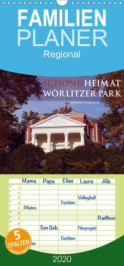 Schöne Heimat Wörlitzer Park – Familienplaner hoch (Wandkalender 2020 , 21 cm x 45 cm, hoch) von Esch,  Jens