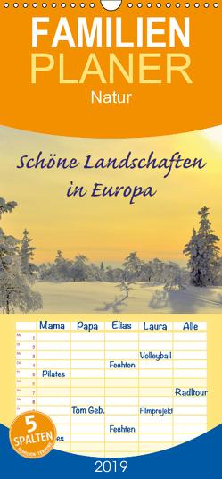 Schöne Landschaften in Europa – Familienplaner hoch (Wandkalender 2019 , 21 cm x 45 cm, hoch) von GUGIGEI