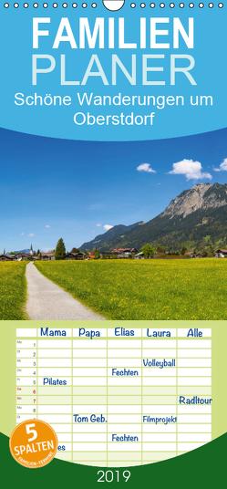Schöne Wanderungen um Oberstdorf – Familienplaner hoch (Wandkalender 2019 , 21 cm x 45 cm, hoch) von G. Allgöwer,  Walter