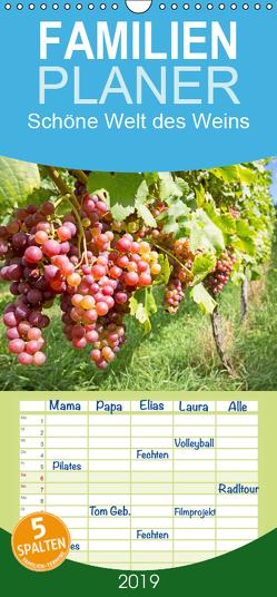 Schöne Welt des Weins – Familienplaner hoch (Wandkalender 2019 , 21 cm x 45 cm, hoch) von CALVENDO