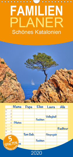 Schönes Katalonien – Familienplaner hoch (Wandkalender 2020 , 21 cm x 45 cm, hoch) von Fornal,  Martina