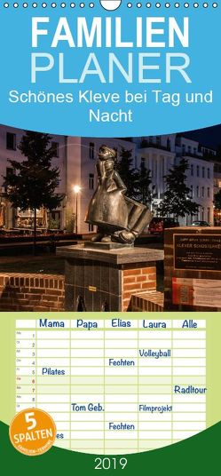Schönes Kleve bei Tag und Nacht – Familienplaner hoch (Wandkalender 2019 , 21 cm x 45 cm, hoch) von Merfeld,  Birgit
