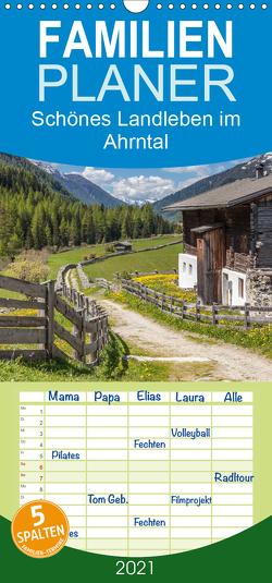 Schönes Landleben im Ahrntal – Familienplaner hoch (Wandkalender 2021 , 21 cm x 45 cm, hoch) von Mueringer,  Christian