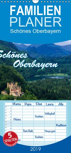 Schönes Oberbayern – Familienplaner hoch (Wandkalender 2019 , 21 cm x 45 cm, hoch) von Thiele,  Ralf-Udo