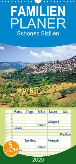 Schönes Sizilien – Familienplaner hoch (Wandkalender 2020 , 21 cm x 45 cm, hoch) von CALVENDO