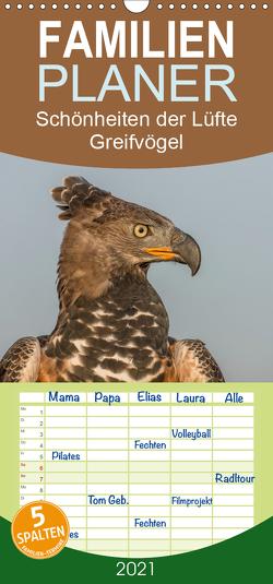 Schönheiten der Lüfte – Greifvögel – Familienplaner hoch (Wandkalender 2021 , 21 cm x 45 cm, hoch) von Brandt,  Tanja