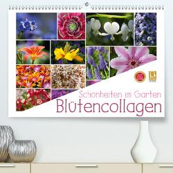 Schönheiten im Garten – Blütencollagen (Premium, hochwertiger DIN A2 Wandkalender 2020, Kunstdruck in Hochglanz) von Cross,  Martina