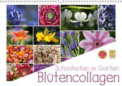 Schönheiten im Garten – Blütencollagen (Wandkalender 2019 DIN A3 quer) von Cross,  Martina